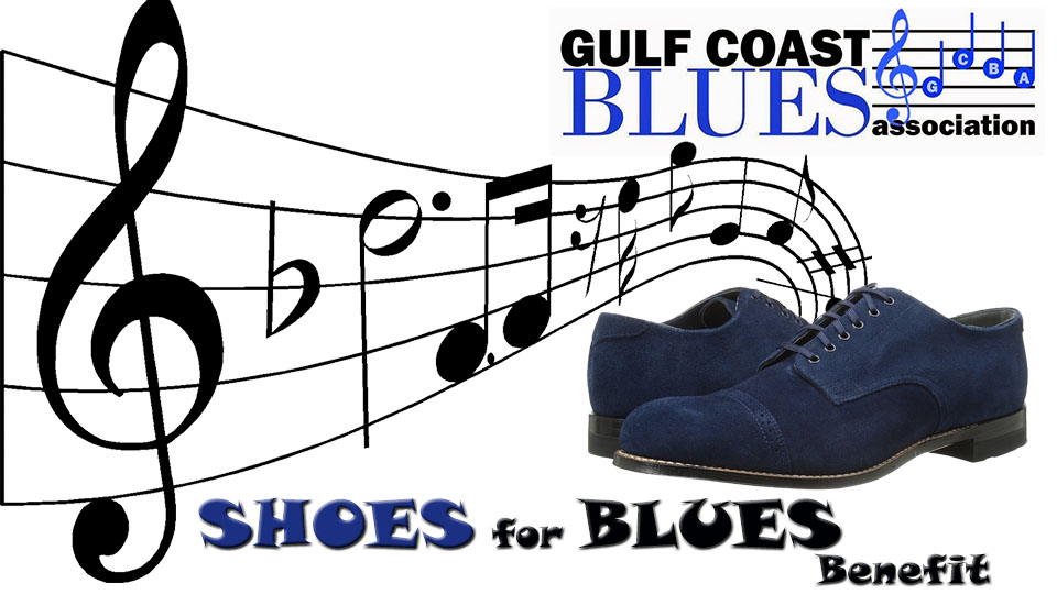 Shoes for Blues Benefit art hosted by Gulf Coast Blues Association